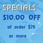 Specials $10 off